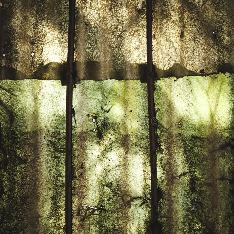 Shadows abstraction on polycarbonate panel stock image
