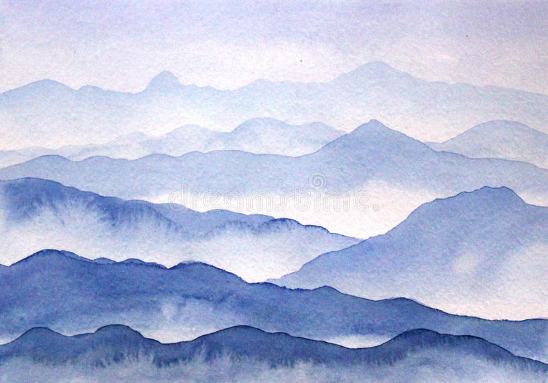 Shadows of blue - mountains royalty free stock images