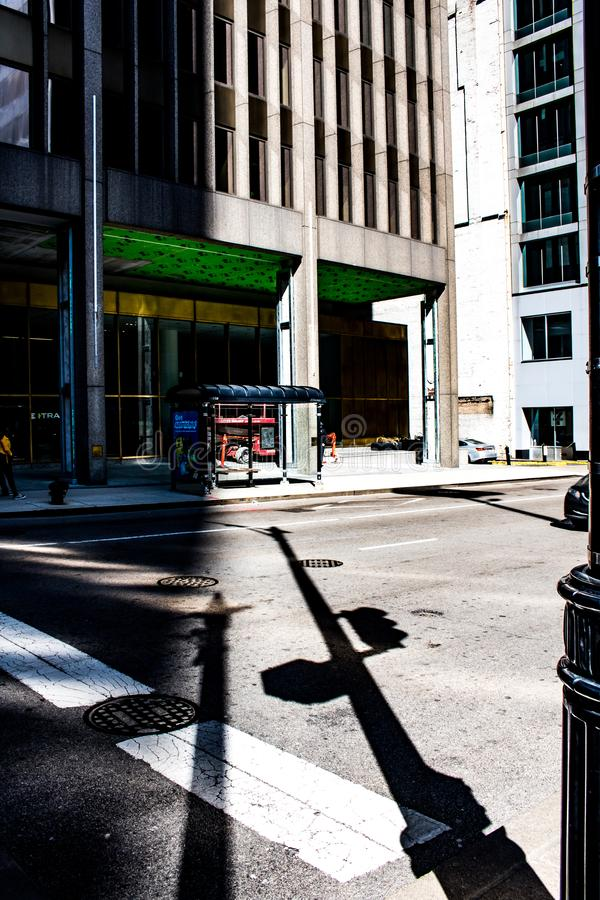 Shadows of Chicago stock photography