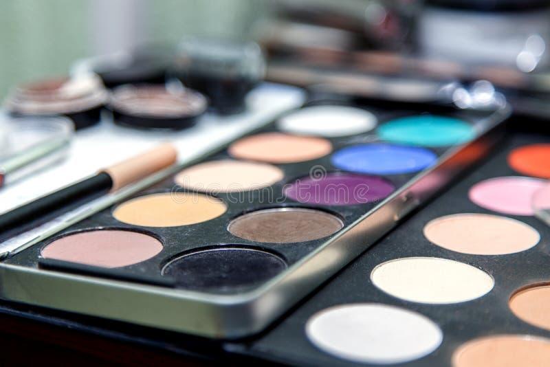 Shadows cosmetics royalty free stock photo