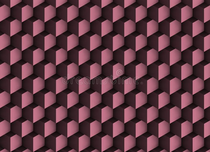 3d violet texture with shadows and cubes. stock photo