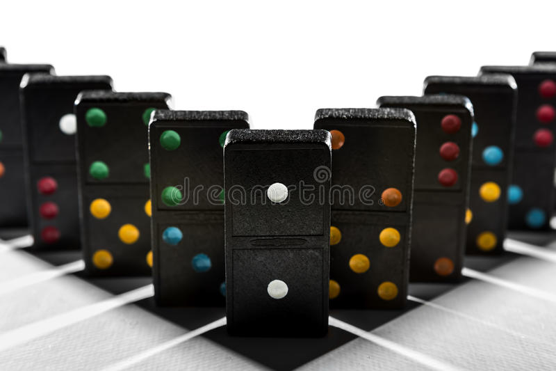 Domino shadow geometry royalty free stock photo