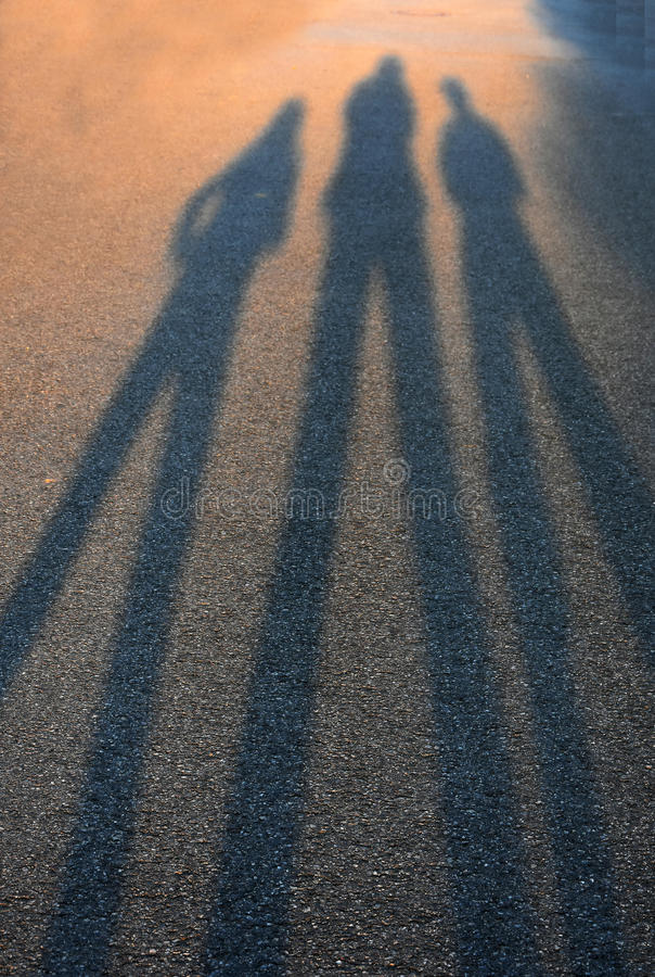 Shadows ending in the blurs royalty free stock photos