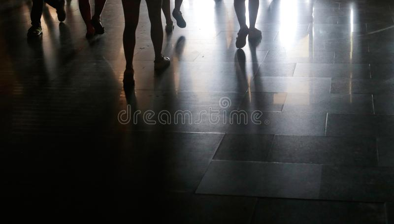 Shadows on the ground royalty free stock images