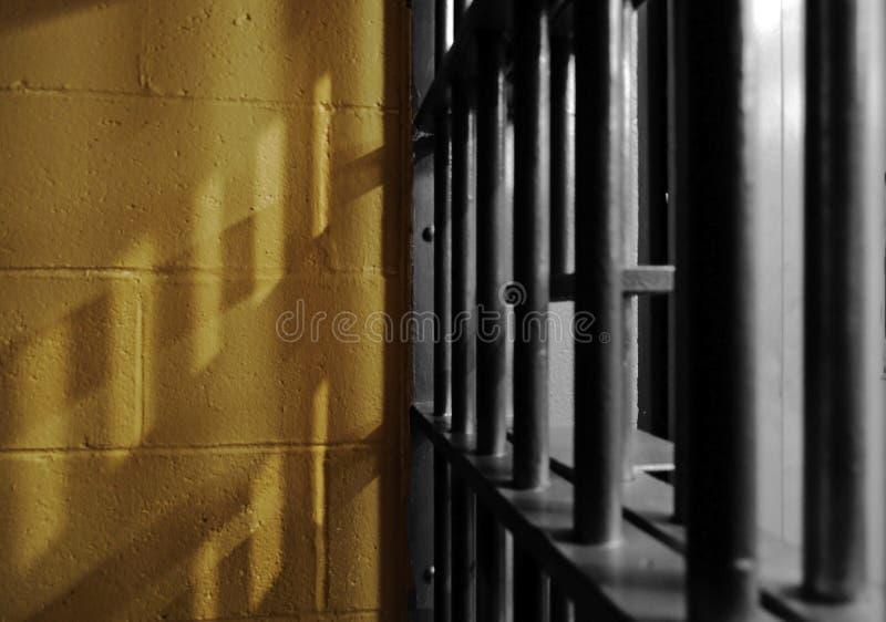 A jail cell shadow stock photos