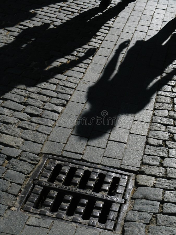 Free Shadows Of People On Street Royalty Free Stock Photography - 7565817