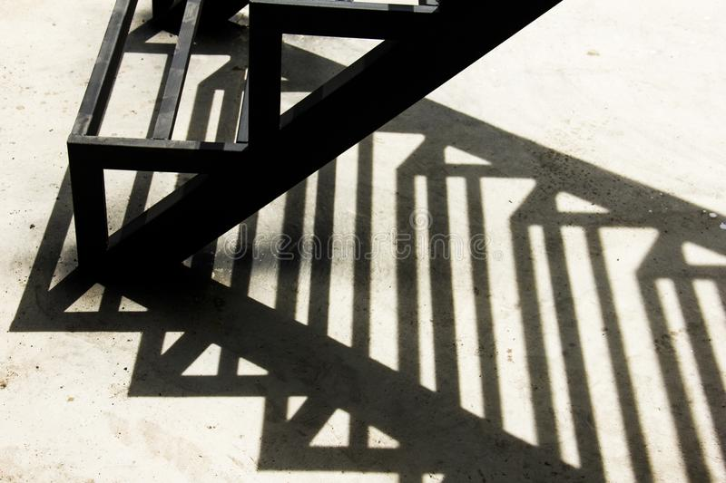 Shadows from old steel stock photos