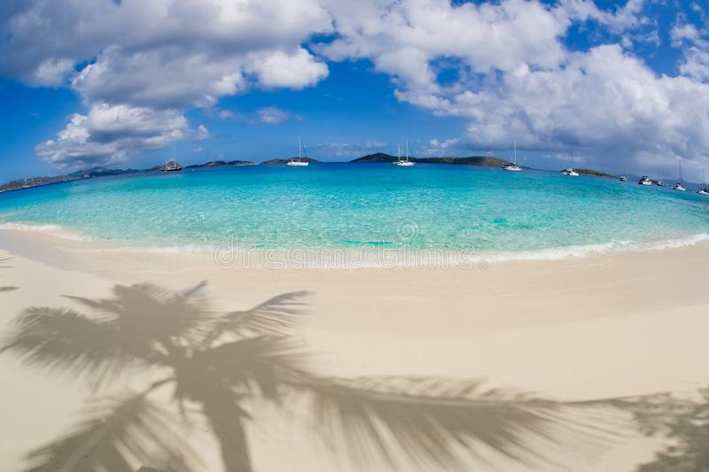 Salomon Beach on the Caribbean island of St John in the US Virgin Islands royalty free stock image