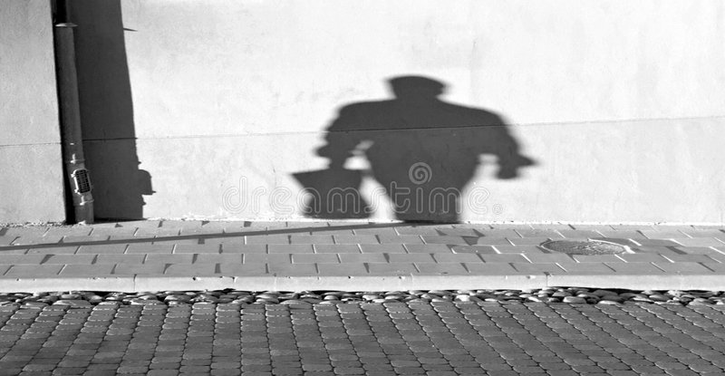 Shadows of the past royalty free stock photography