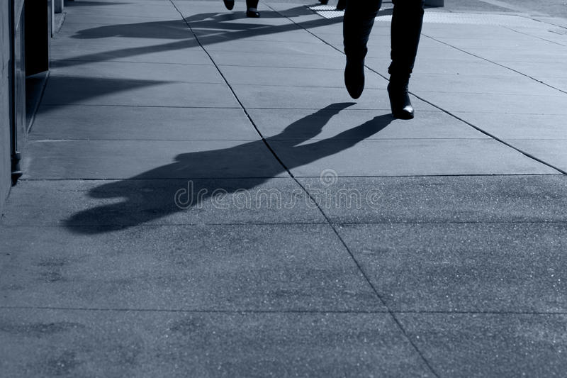 Download Shadows of People Walking stock photo. Image of concrete - 22905212