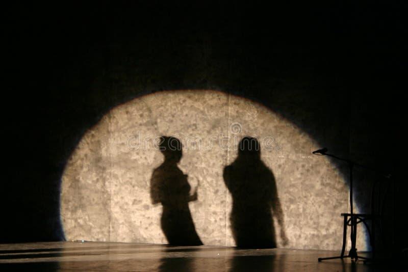 shadows sångaren royaltyfria bilder