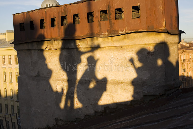 Shadows of Saint-Petersburg stock image