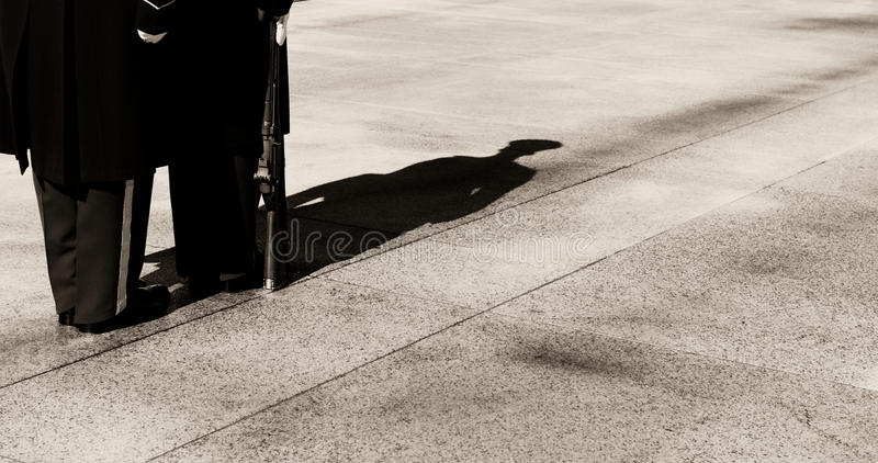 Shadows and Soldiers stock images