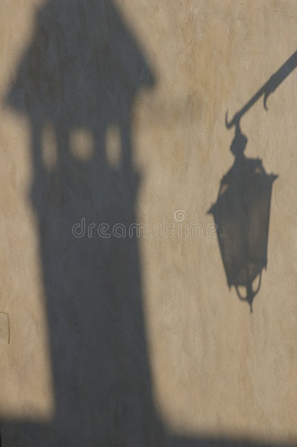 Shadows on the wall royalty free stock photos