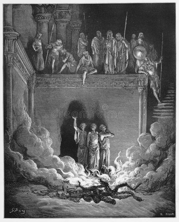 Shadrach, Meshach, e Abednego imagem de stock royalty free