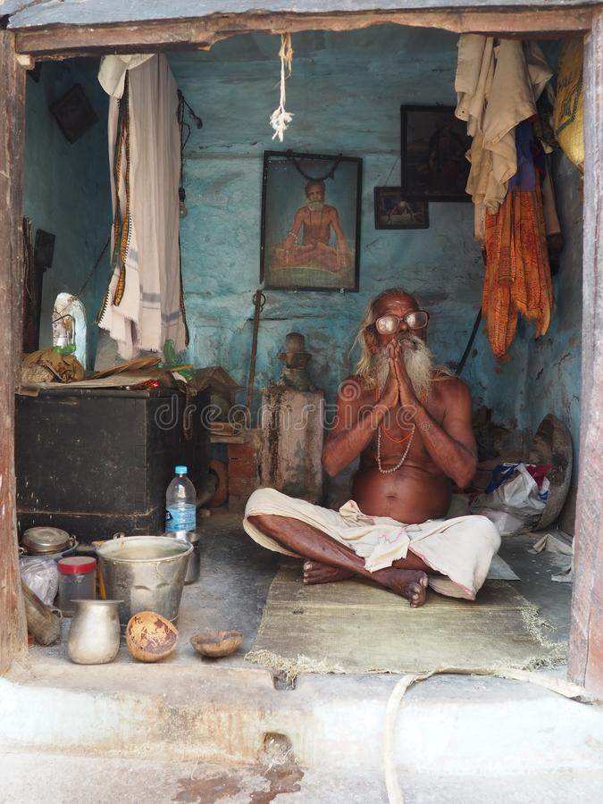 shadu in zijn huis stock foto