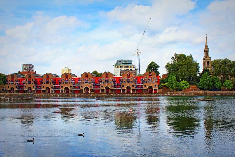 Shadwell Basenowy spokój Londyński Wielki Brytania zdjęcie stock