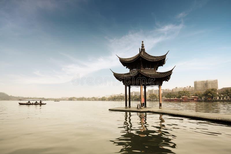 Shady bower on the west lake. In hangzhou,China royalty free stock image