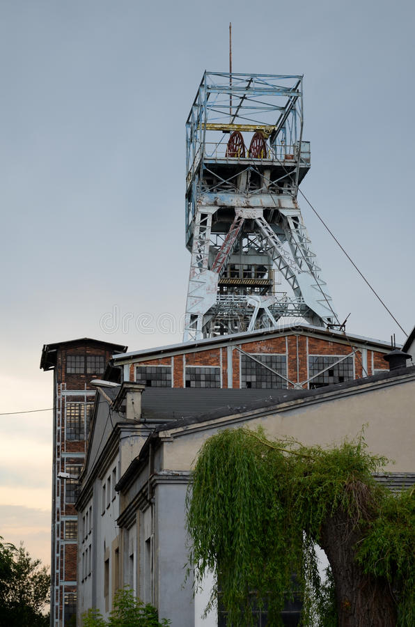 Shaf угольной шахты стоковое изображение