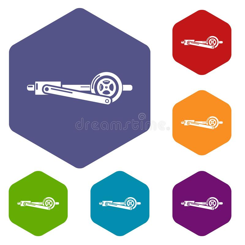 Shaft icon, simple style. Shaft icon. Simple illustration of shaft vector icon for web stock illustration