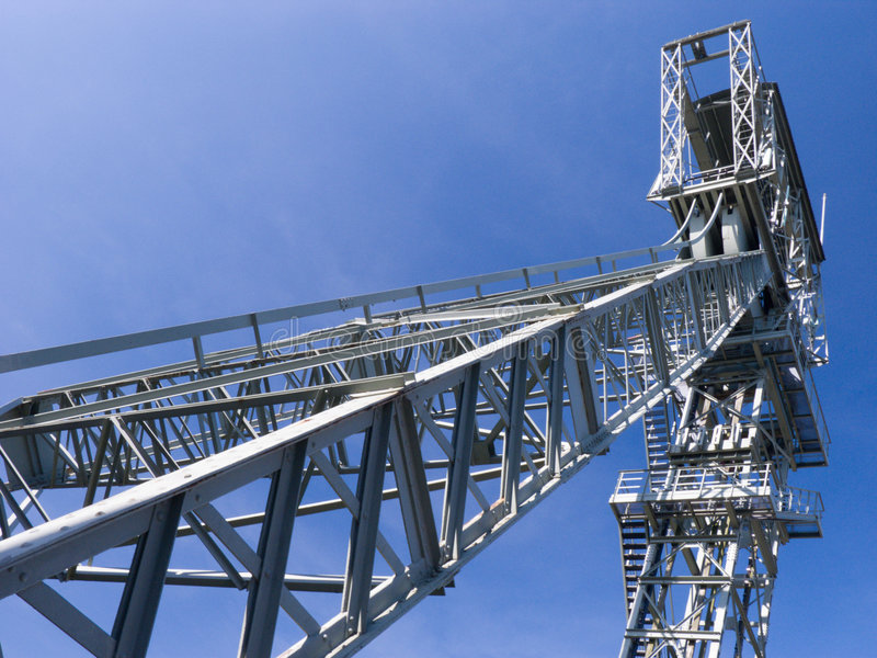 Shaft Tower. Of a coal mine, Zeche Zollern, Dortmund, Germany see also stock photos