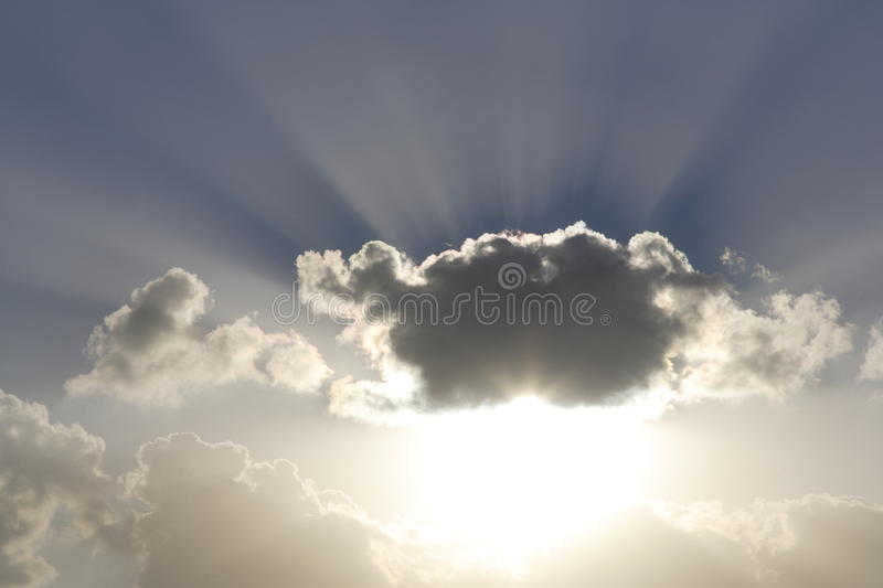 Shafts of sunlight stock photography