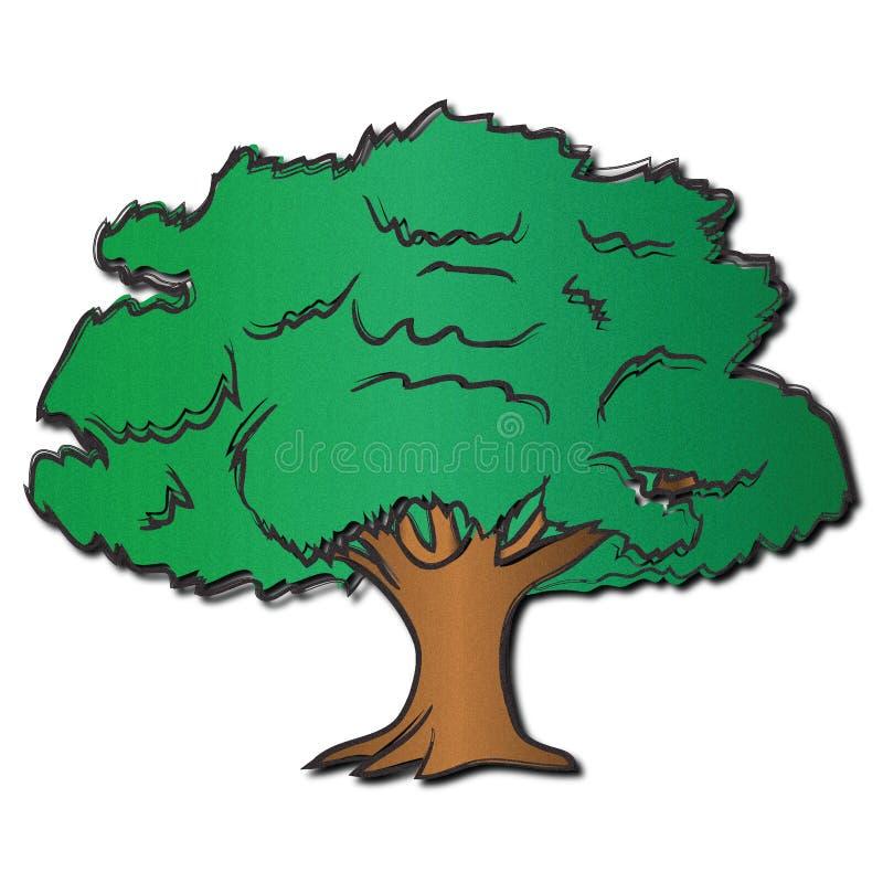 Shaggy Oak Tree stock illustration