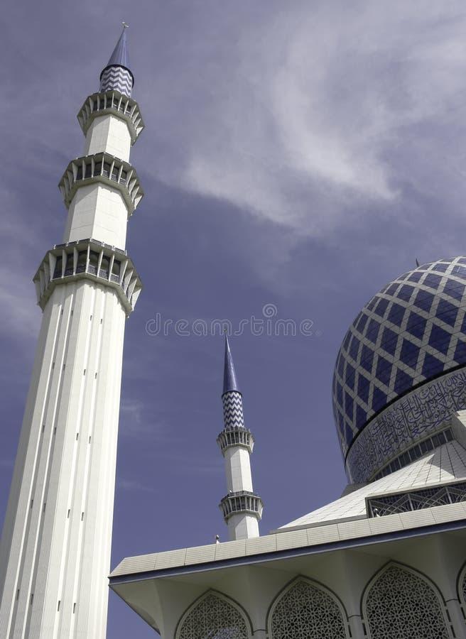 shah мечети alam голубое стоковые фотографии rf
