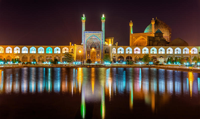 Shah (阿訇)清真寺看法在伊斯法罕 免版税图库摄影