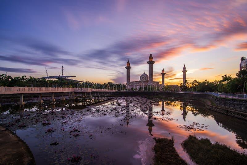 Shah Alam härlig soluppgång royaltyfri bild