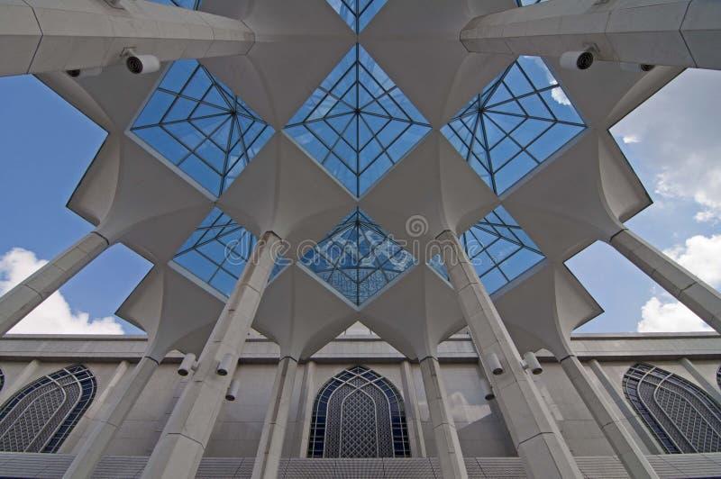 Shah Alam moské royaltyfri fotografi