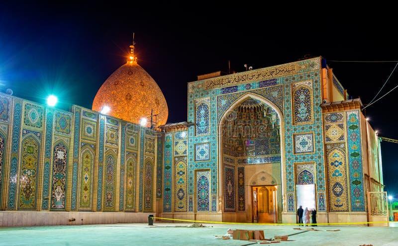 Shah Cheragh, un monument funéraire et mosquée à Chiraz - en Iran photos libres de droits