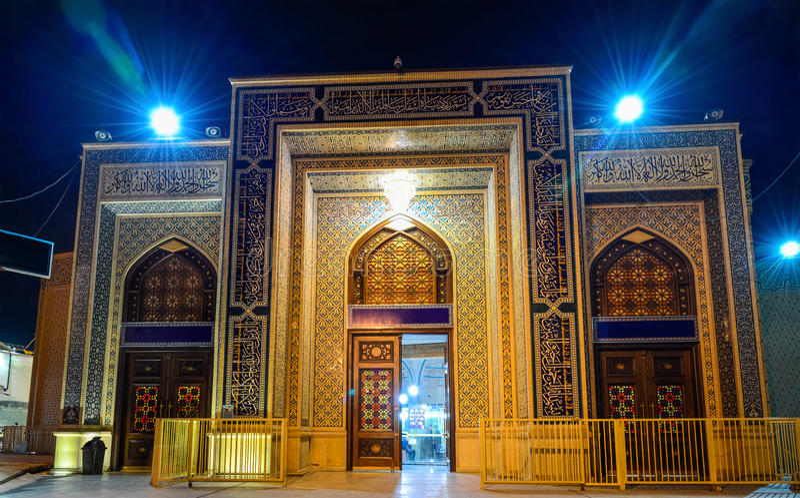 Shah Cheragh, un monument funéraire et mosquée à Chiraz - en Iran images libres de droits