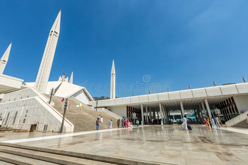 Shah Faisal Mosque à Islamabad, Pakistan photo stock