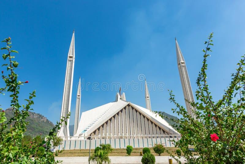 Shah Faisal Mosque à Islamabad, Pakistan image libre de droits