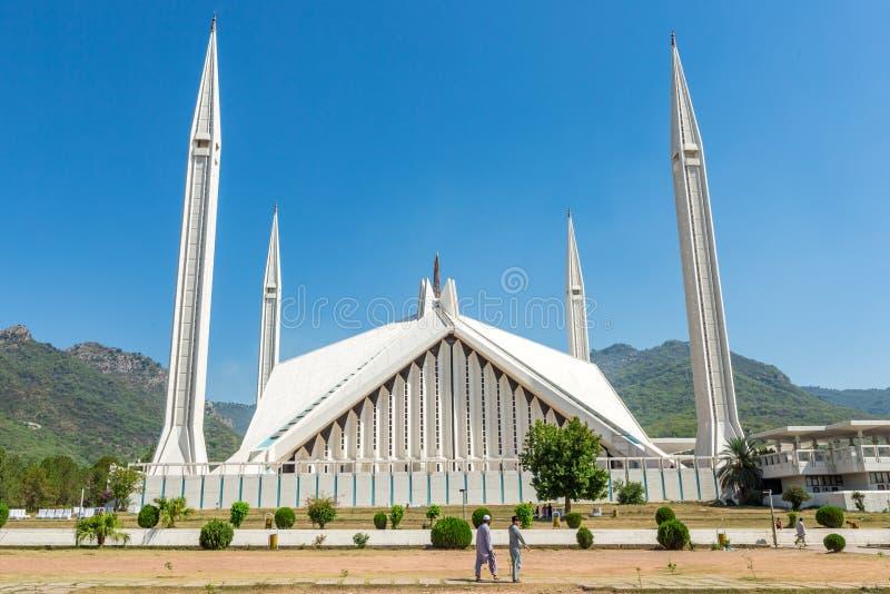 Shah Faisal Mosque à Islamabad, Pakistan photos libres de droits