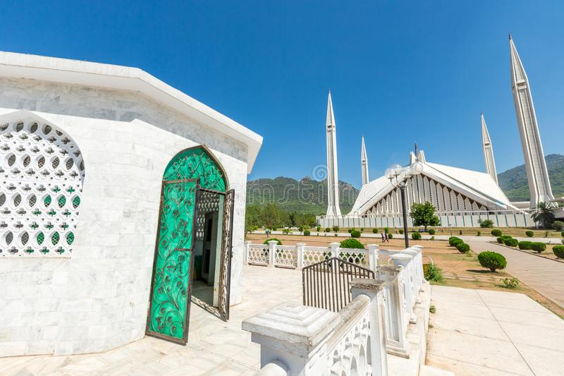 Shah Faisal Mosque à Islamabad, Pakistan images stock