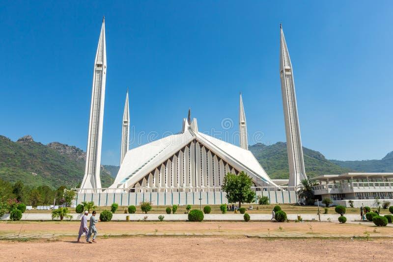 Shah Faisal Mosque à Islamabad, Pakistan images libres de droits