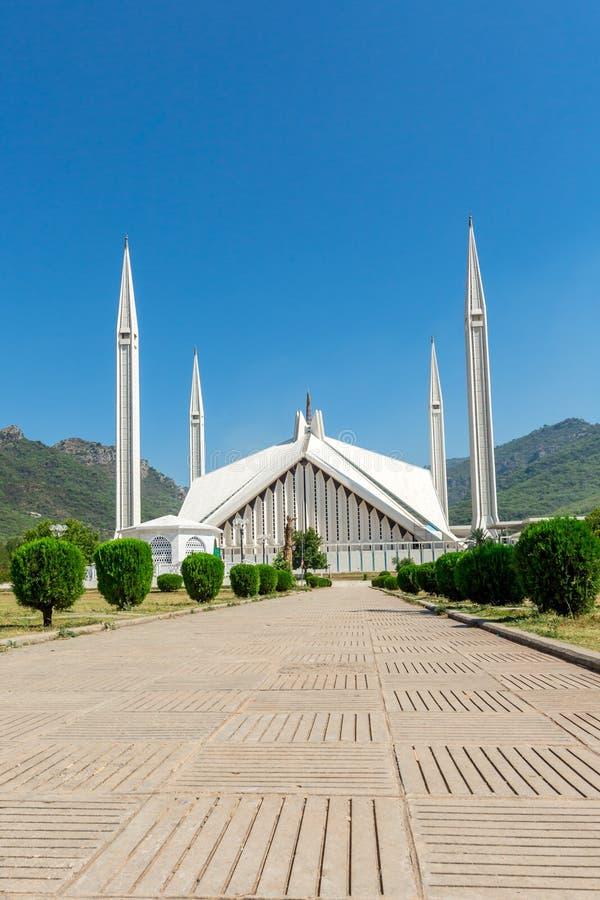 Shah Faisal Mosque à Islamabad, Pakistan photographie stock libre de droits