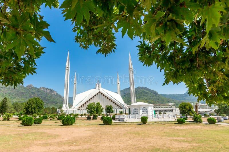 Shah Faisal Mosque à Islamabad, Pakistan image stock