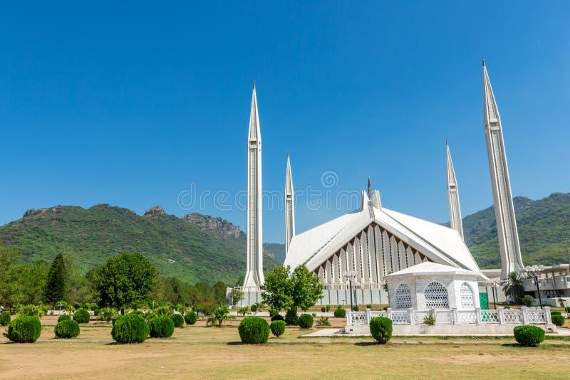Shah Faisal Mosque à Islamabad, Pakistan photos stock