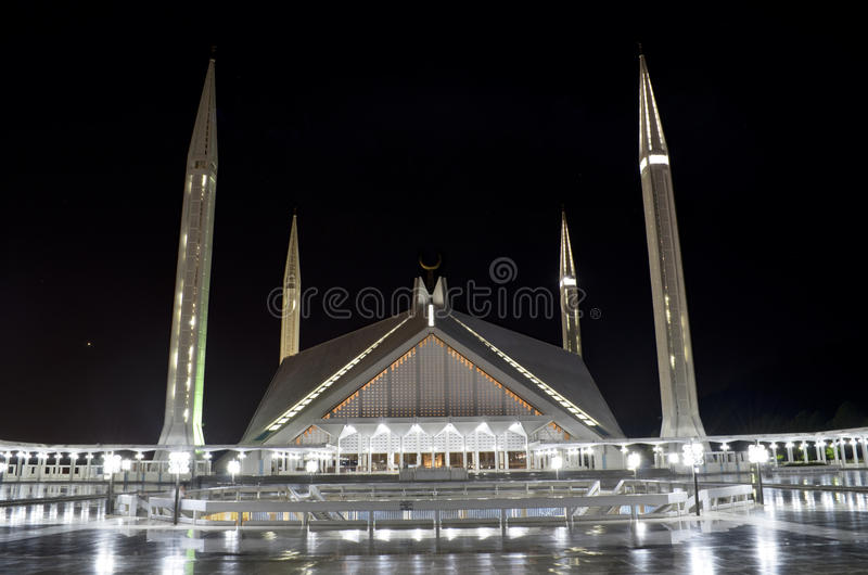 Shah Faisal Mosque Islamabad image libre de droits