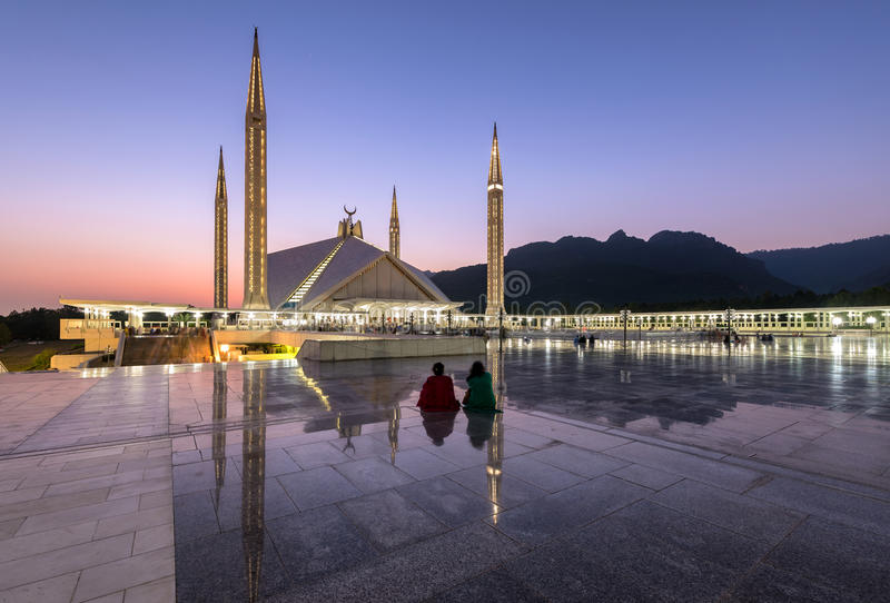 Shah Faisal Mosque Islamabad Pakistan photographie stock libre de droits