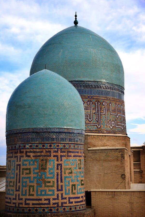 Ancient nercopolis Shah-i-Zinda. Islamic, ensemble. royalty free stock photos