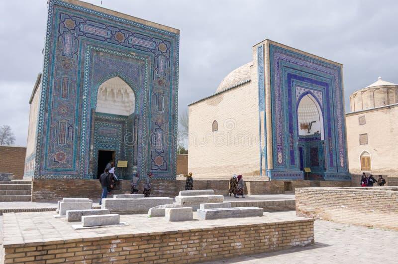 Shah-I-Zinda pamiątkowy kompleks, necropolis w Samarkand, Uzbekist obraz royalty free
