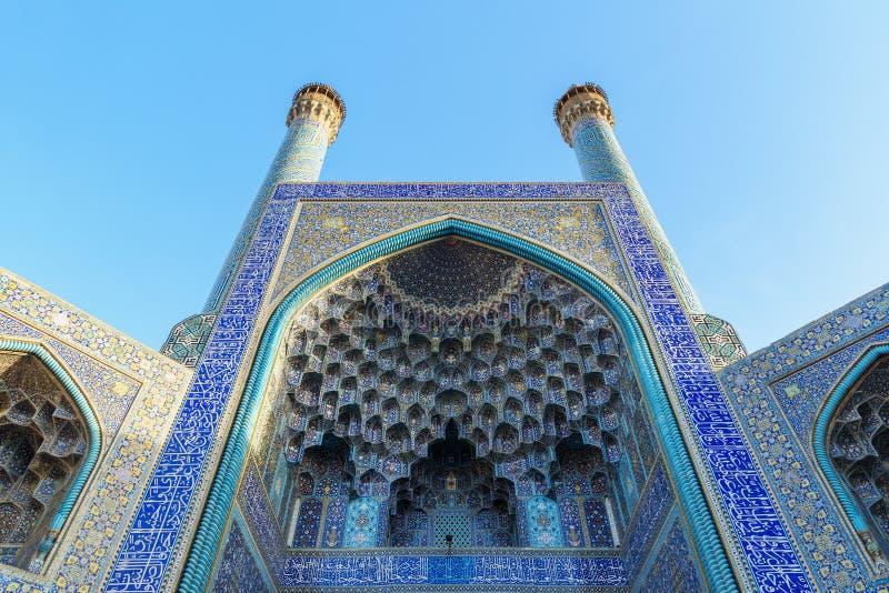 Shah meczet lub imama meczet w Isfahan Iran obraz stock