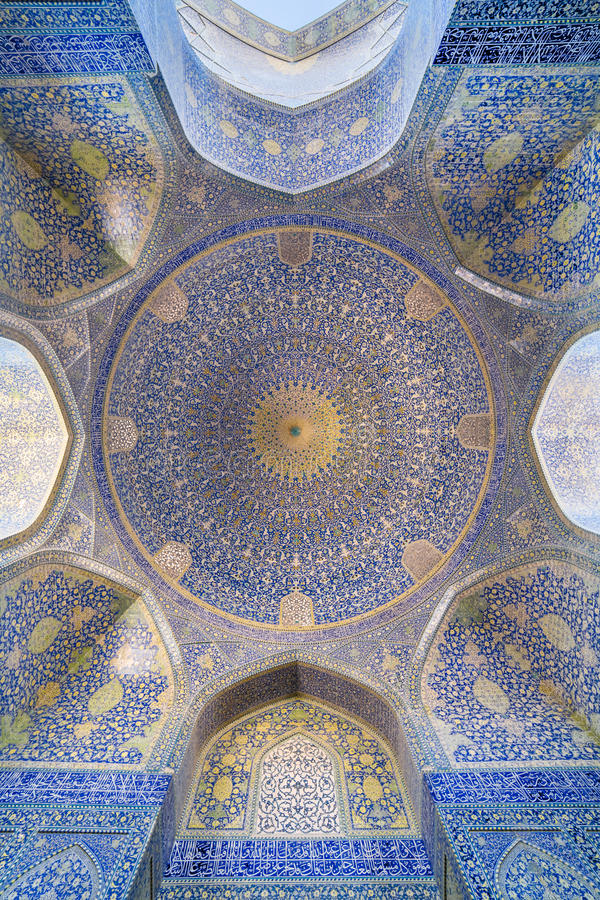 Shah meczet przy Naqhsh-e Jahan kwadratem w Isfahan, Iran fotografia stock