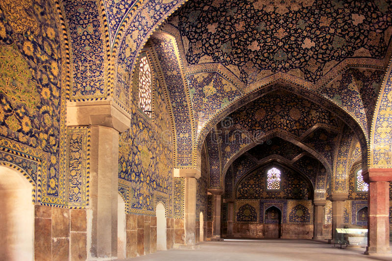 The Shah Mosque (Imam Mosque) on Naqsh-e Jahan Square in Isfahan city, Iran. The Shah Mosque, also known as Imam Mosque, regarded as one of the masterpieces of royalty free stock photo