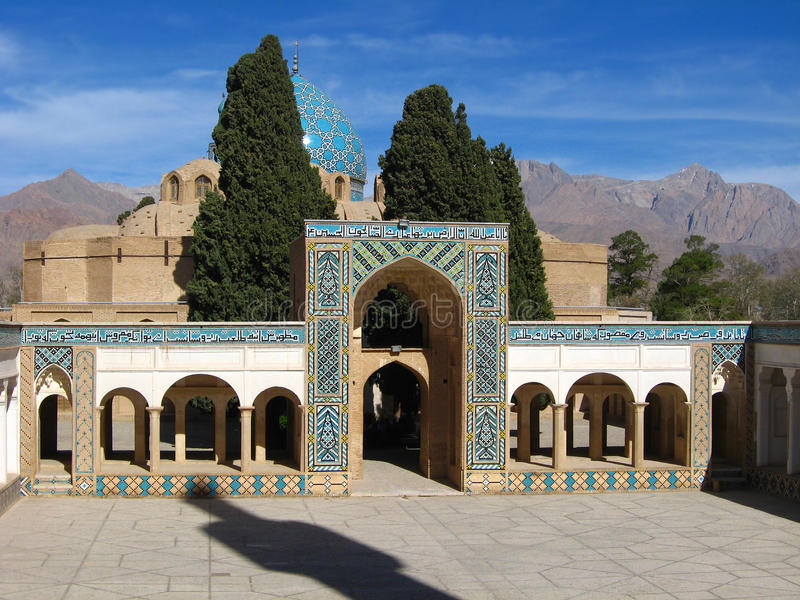 Shah Nur塔杰丁Nematollah Vali,诗人,贤哲, Sufi领导陵墓  免版税库存照片