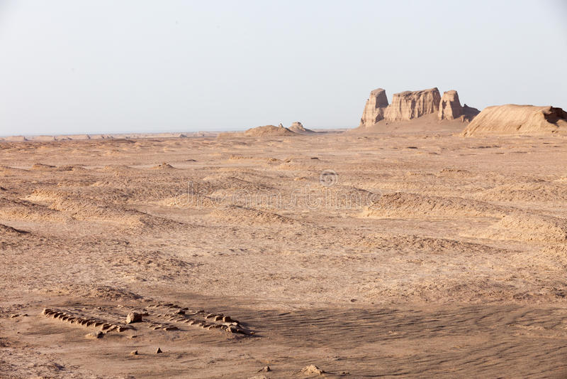 Shahdad沙漠 免版税库存照片